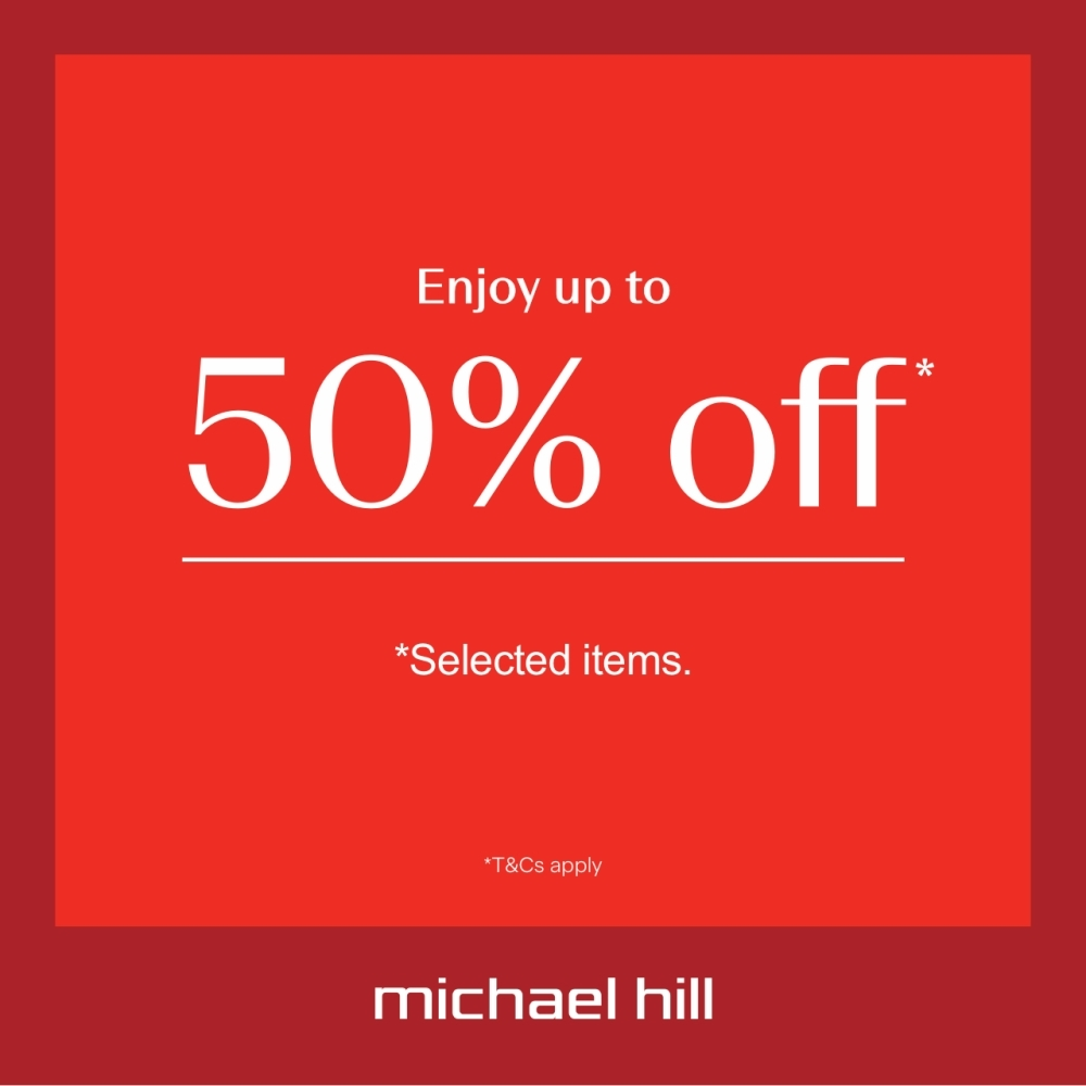 Up to 50% off* selected items at Michael Hill