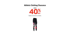 Athletic Clothing Clearance!