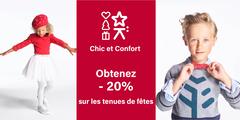 CHIC et CONFORT : Obtenez - 20% sur les tenues de fêtes