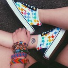 Vans Old Skool Rainbow Chex Skate Shoes