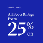 Extra 25% Off all Boots and Handbags