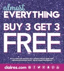 Almost Everything Buy 3 get 3 free