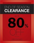 End of Season Clearance - Up to 80% Off