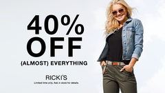 RICKI'S – 40% off (Almost) Everything