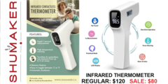 FDA APPROVED INFRARED CONTACTLESS THERMOMETERS NOW AVAILABLE AT SHUMAKER