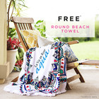 FREE: Round beach towel