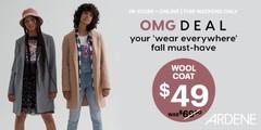 OMG deal wool coat at $49