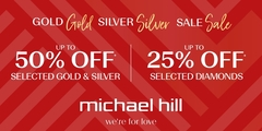 Up to 25% off* selected diamonds and up to 50% off* Gold and Silver.