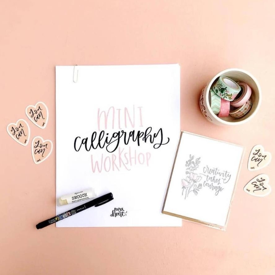 BEGINNER CALLIGRAPHY WORKSHOP WITH ANTHROPOLOGIE