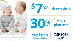 $7 & up Doorcrashers / 30% off 2 or 3 piece sets