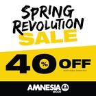 THE SPRING REVOLUTION SALE @ AMNESIA!