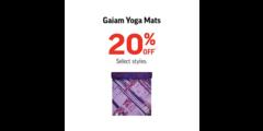 GAIAM YOGA MATS 20% OFF*