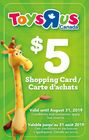 Make a purchase at NYF, and get a $5 Toys R Us Shopping Card FREE!