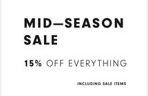 MID SEASON SALE 15% OFF EVERYTHING