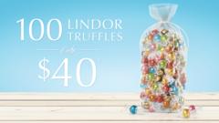 100 LINDOR  TRUFFLES ONLY $40*