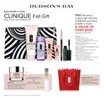 Clinique Fall Gift with Purchase at the Hudson's Bay - September 10-28