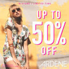 Get up to 50% off at Ardene! Limited time only.