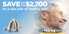 Save up to $2,700 on a new pair of hearing aids!