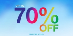 Up to 70% off Selected Styles