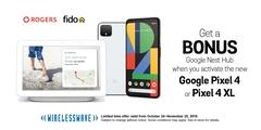 Get a BONUS Google Nest Hub on us.