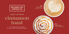 Holiday Menu is back! Treat yourself with Holiday Special Drinks.