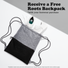 GWP - Roots Salt & Pepper Drawstring Bag
