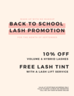 Back To School Lash Promotion!