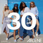 Up to 30% off on select styles