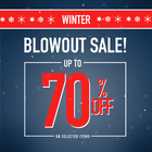 WINTER BLOWOUT SALE! UP TO 70% OFF STORE WIDE