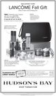 LANCOME Fall Gift   Wed. Oct. 2 to Sun. Oct. 27