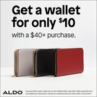 Get a wallet for only $10 with a $40+ purchase!
