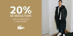 20% de réduction sur les Manteaux et Chaussures !