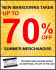 Up To 70% Off Our Summer Collection