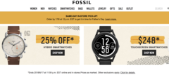 Fossil Father's day Promotion - ALL Wearable 25% OFF