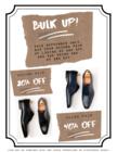 Bulk Up! 2nd pair at 20% off, 3rd pair at 40% off.