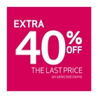 Extra 40% off on selected items !