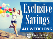 CONTINENTAL CURRENCY EXCHANGE: Save Everyday with our EXCLUSIVE membership card!