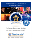 Heroes with our VIP membership card save EVERY WEDNESDAY!!