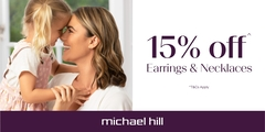 Michael Hill 15% off^ Earrings & Necklaces