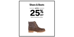 BLACK FRIDAY - SHOES AND BOOTS UP TO 25% OFF*