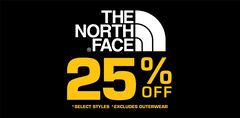 NORTH FACE 25% Off