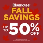 BLUENOTES FALL SAVINGS SALE!