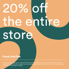 20% off the entire store