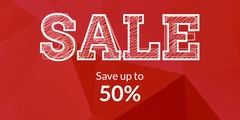 Sale - Save up to 50% - Women, men, and home