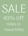 Hides in Hand Leather Mitts 40% Off