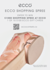 ENTER TO WIN A $1000 SHOPPING SPREE AT ECCO