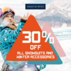 30% Off Snowsuits and Accessories Souris Mini
