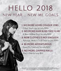 Hello 2018! New Year ... New Me Goals