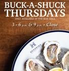 BUCK-A-SHUCK THURSDAYS