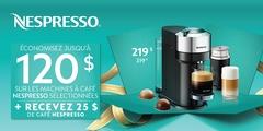 Vendredi cadeaux machine à café Nespresso
